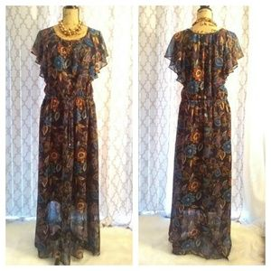a•n•d e a w y maxi dress xxl